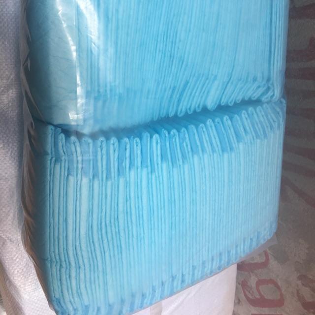 10 tấm giấy lót chuồng chó mèo size S 33-45cm