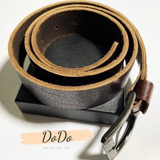 Thắt lưng da nam khóa kim da bò nguyên tấm cam kết da thật khỏe khoắn sang trọng dây nịt nam cao cấp DoDo