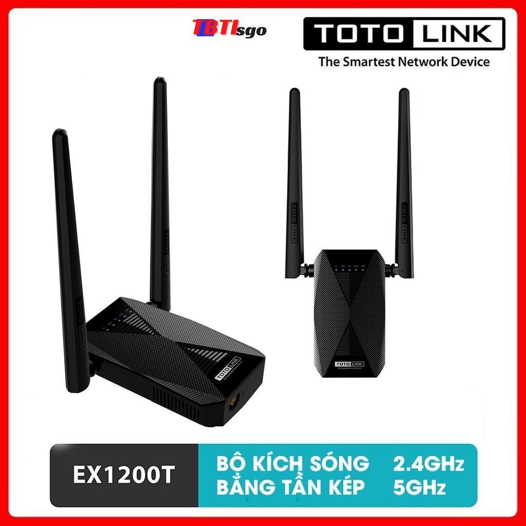 Kích sóng wifi Totolink EX1200T bộ kích wifi băng tần kép AC1200Mpbs - Hàng chính hãng bảo hành 24 tháng