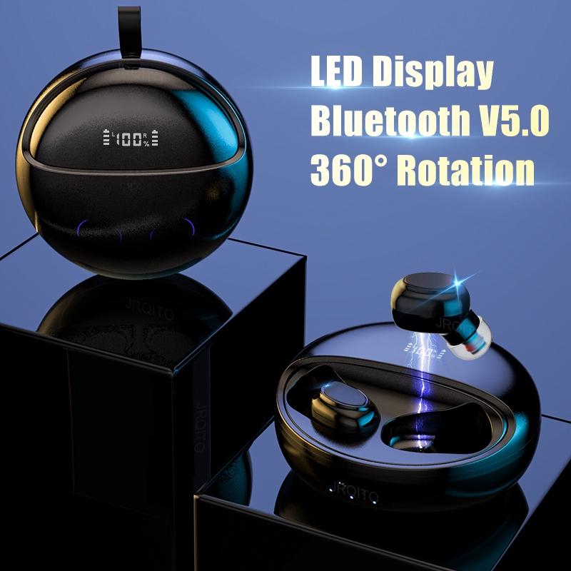 360° Rotation Wireless Earbuds TWS 5.0 Bluetooth Earphone LED Display Headphones for IPhone 11 IPhone7/8X Huawei Xiaomi