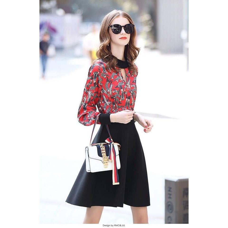 Đầm xòe họa tiết đỏ chân váy đen thanh lịch - Hàng nhập cao cấp - 22777283 , 1829980004 , 322_1829980004 , 450000 , Dam-xoe-hoa-tiet-do-chan-vay-den-thanh-lich-Hang-nhap-cao-cap-322_1829980004 , shopee.vn , Đầm xòe họa tiết đỏ chân váy đen thanh lịch - Hàng nhập cao cấp