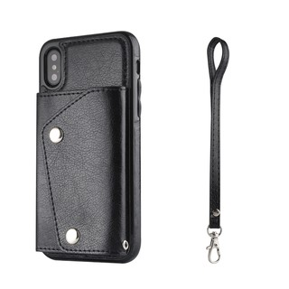 Bao da Iphone kiêm ví cho các dòng máy iphone (màu đen)
