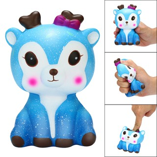Kawaii Cartoon Galaxy Deer Squishy Slow Rising Cream Scented Stress Reliever Toy