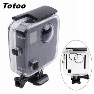 For Gopro Fusion 45m Underwater Waterproof Housing Shell For Go pro Panoramic VR Camera Protective Box Diving Case Accessories【oy】