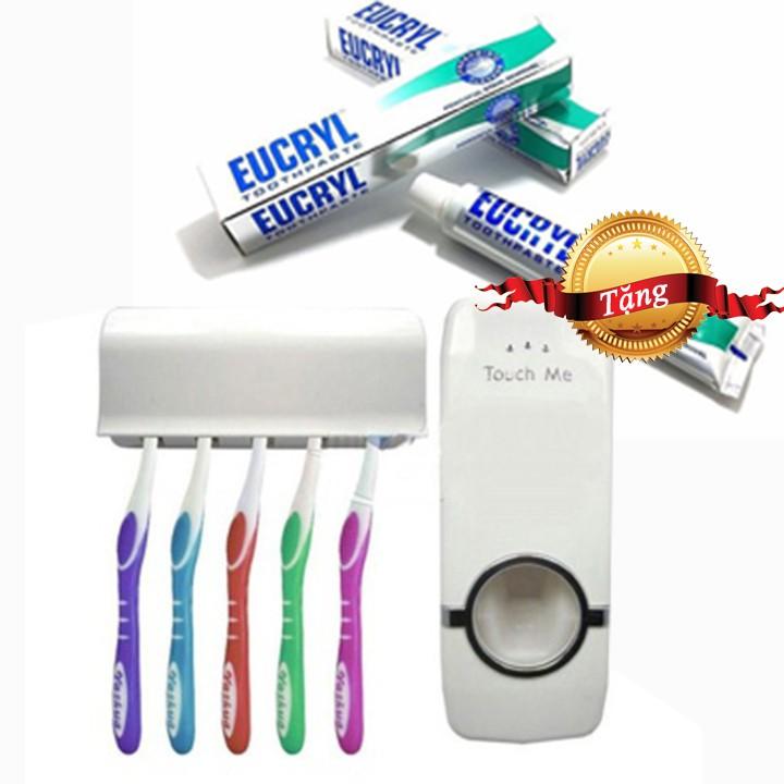 Combo Bộ nhả kem đánh răng Touch Me & Kem tẩy trắng răng Eucryl