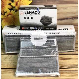 (Hàng Chính Hãng Cty Lehaco) Khẩu Trang Kháng Khuẩn Màu XÁM 4 lớp 50 cái hộp - Khẩu Trang y tế Lehaco Kháng Khuẩn thumbnail