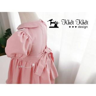 Váy công chúa hoa hồng cho bé với màu sắc hồng phong cách phương Tây