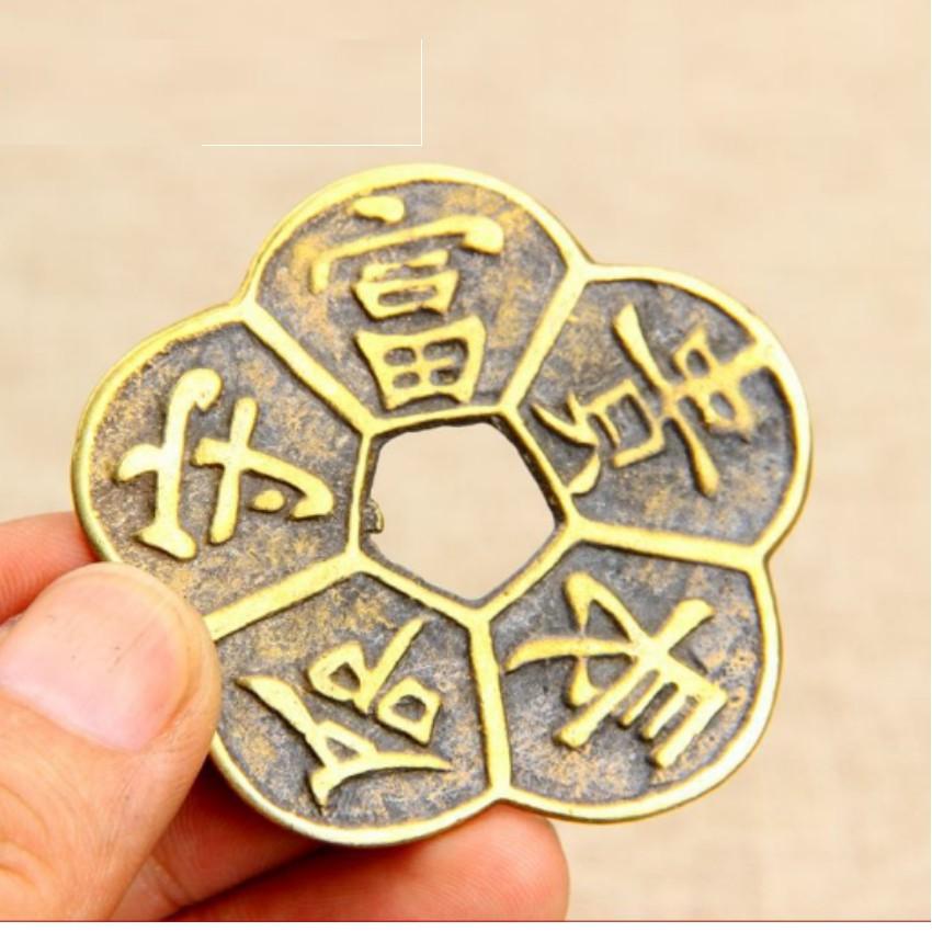 Đồng tiền Hoa Mai 5 cánh (Mai hoa kim tiền) TI6570