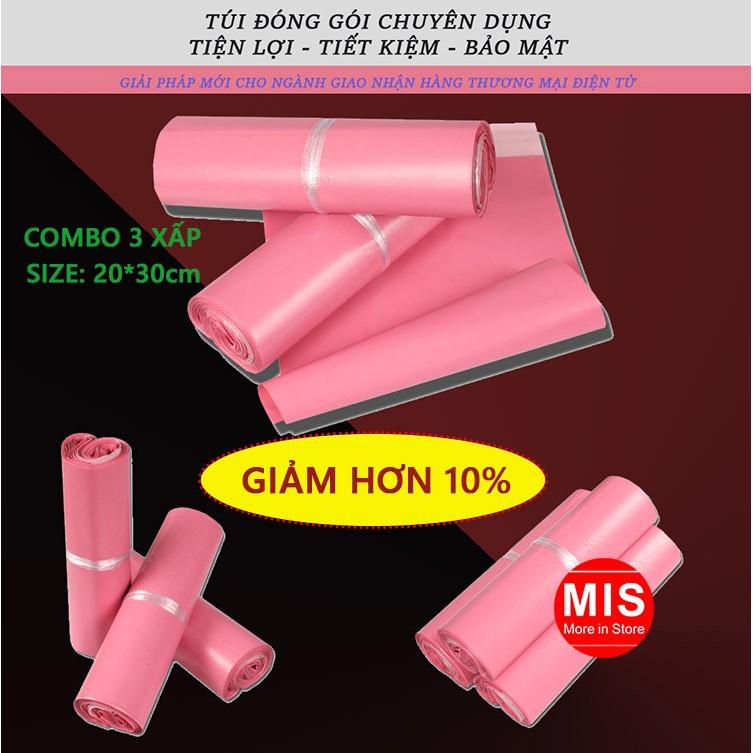 [COMBO] Bộ 3 xấp Túi đóng hàng PE size 20*30 cm (chuyên dụng, bảo mật, chống nước) màu hồng túi đóng - 2986001 , 721707783 , 322_721707783 , 280000 , COMBO-Bo-3-xap-Tui-dong-hang-PE-size-2030-cm-chuyen-dung-bao-mat-chong-nuoc-mau-hong-tui-dong-322_721707783 , shopee.vn , [COMBO] Bộ 3 xấp Túi đóng hàng PE size 20*30 cm (chuyên dụng, bảo mật, chống nước) màu