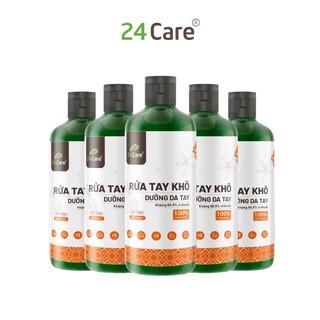 [KHÁNG KHUẨN] Bộ 5 Nước rửa tay khô tinh dầu Cam 24Care 100ML không cần rửa lại với nước, diệt khuẩn 99,9% thumbnail