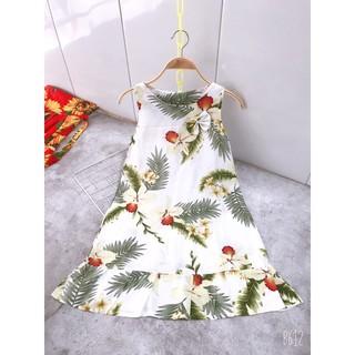 Váy lanh thoáng mát mùa hè cho bé gái 15-40kg