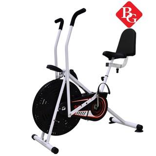 BG Xe đạp tập thể dục Air bike 8702 Plus có tay cầm cảm ứng nhịp đập và tựa lưng thumbnail