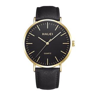 Đồng hồ Nam dây da Halei máy Nhật không ghỉ, chống nước, chống xước tuyệt đối. thumbnail