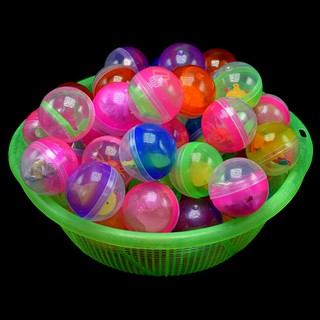 pufang 10pcs 45mm plastic balls capsules toys with different small toys vending machine