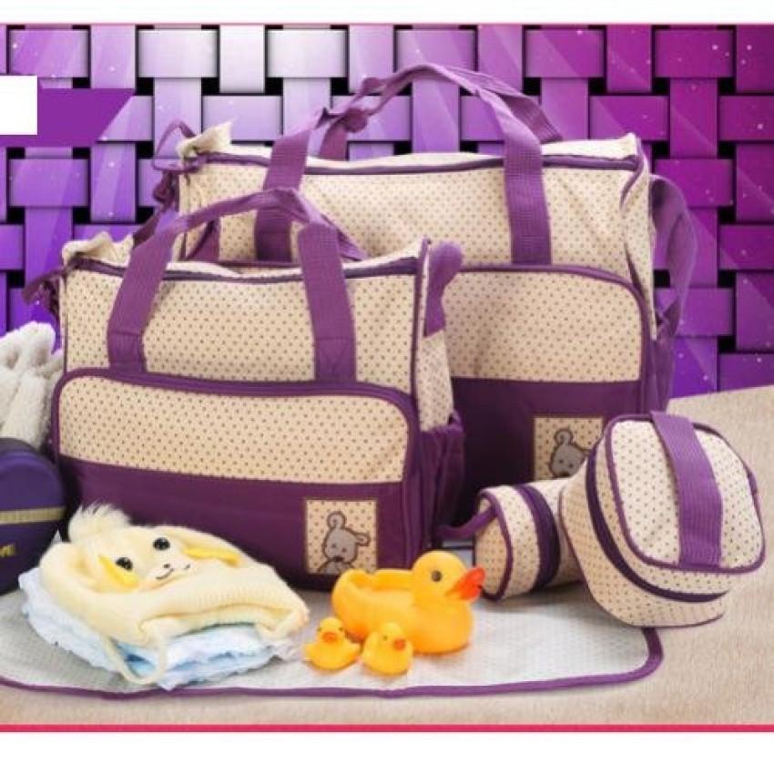 SET túi 5 chi tiết cho mẹ và bé tiện dụng (Màu tím)