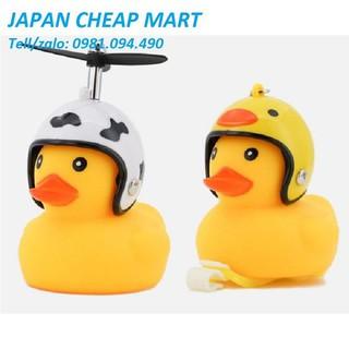 Vịt đồ chơi cute full set để + quạt +mũ bảo hiểm