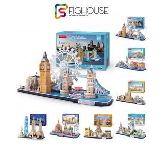 Mô Hình Giấy 3D CubicFun Thành Phố CityLine Series Paris, London, New York, Moscow - Đồ Chơi Xếp Hình Cubic Fun thumbnail