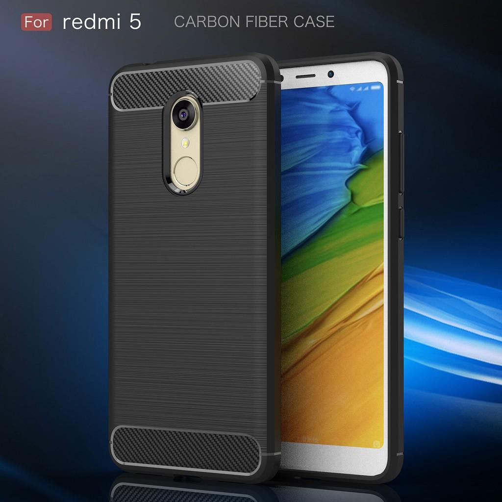 Ốp điện thoại nhựa mềm chống trượt chống in dấu vân tay cho Xiaomi Redmi 5