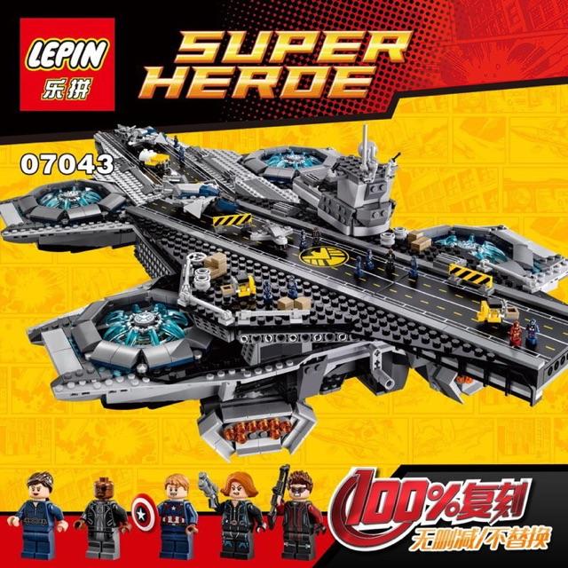 [ Hàng order 7-10 ngày ] Lepin super heroes – 07043 – Tàu sân bay của S.H.I.E.L.D