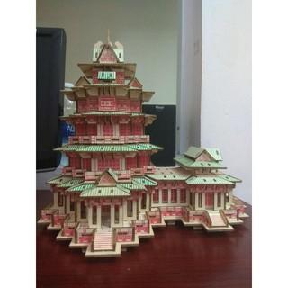 Mô hình lắp ghép 3D bằng gỗ Yuejiang Tower
