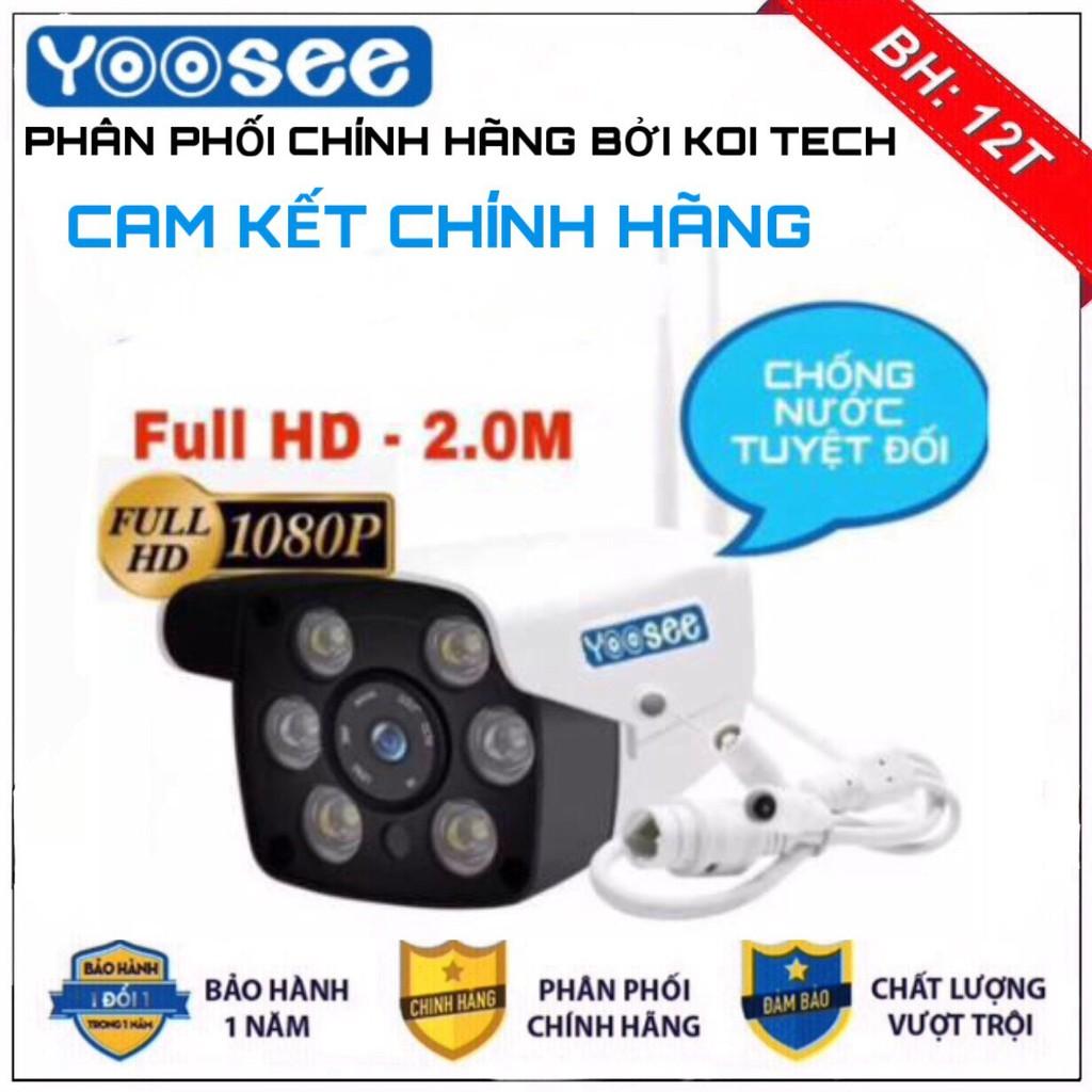 [CÓ MẦU BAN ĐÊM] camera wifi 2.0 ngoài trời - trong nhà camera yoosee 2.0 full hd 1080p - hỗ trợ 2 đèn hồng ngoại 4 LED