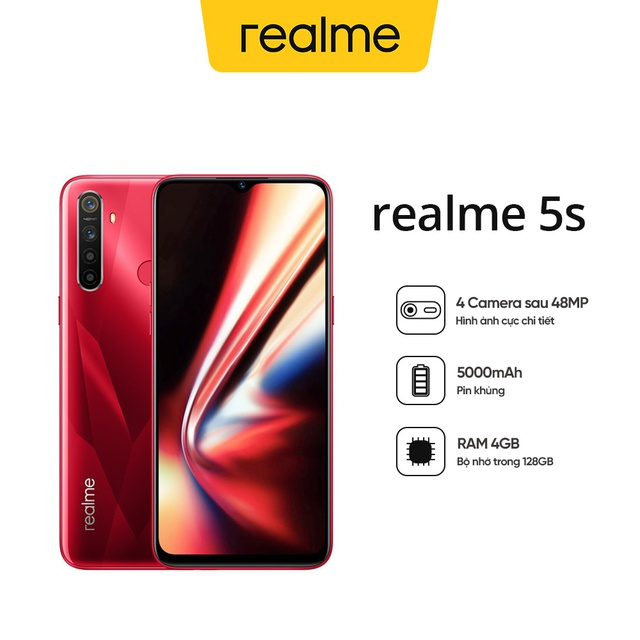 [Nhập REAL100K giảm 100k] Điện Thoại Realme 5s (4GB/128GB) - Hàng Chính Hãng