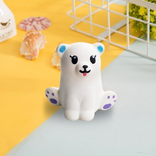 Mini Adorable White Bear Super Slow Rising Kids Fun Toy Stress Reliever Toy Gift