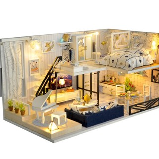 Mô hình nhà gỗ DIY Biệt thự ánh sáng
