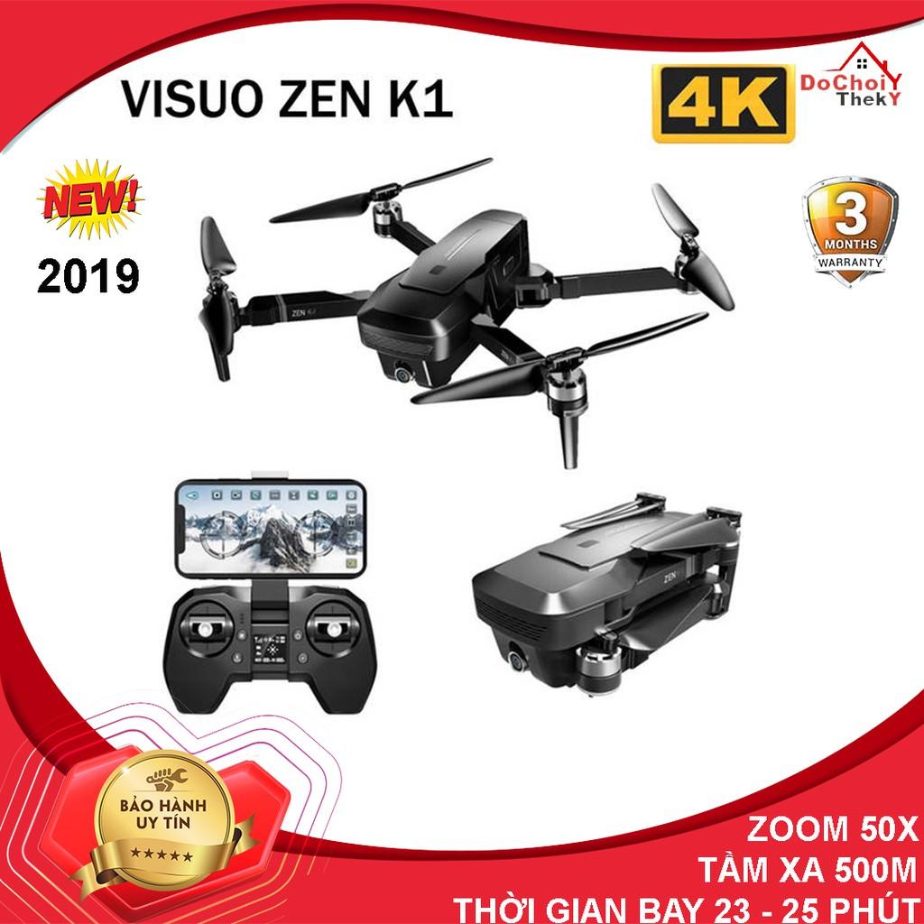 Flycam Visuo Zen K1 Camera 4K Gấp Gọn Cảm Biến Áp Suất Zoom 50X Lần Cao Cấp - BẢO HÀNH 3 THÁNG