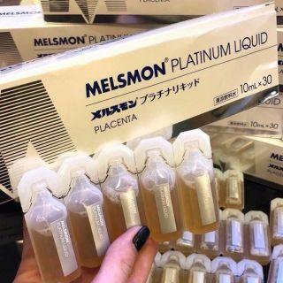 [Mã 159FMCGSALE giảm 8% đơn 500K] Mặt Nạ Nhau Thai Ngựa MELSMON Platinum Liquid Placenta