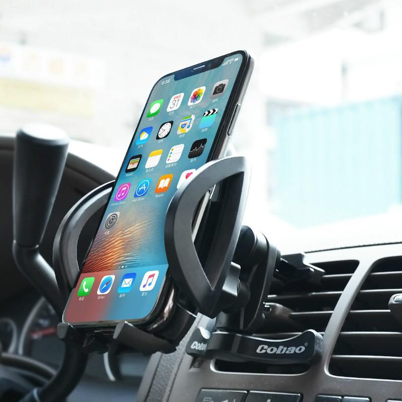 Giá đỡ điện thoại đa năng gắn trên khung máy lạnh của ô tô