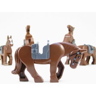 Ngựa nâu LEGO chính hãng, dòng mới kèm yên