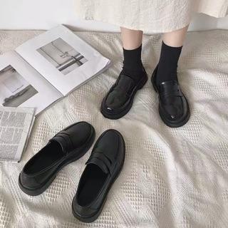 GO055 Giày Oxford da bóng nữ sinh Nhật Bản đế cao