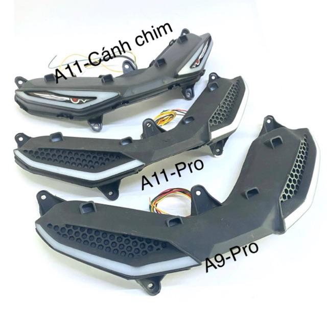 Bộ Demi tổ ong mí Led kết hợp mạch Audi A9-A11.Gắn Exciter150