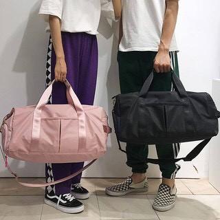 Túi du lịch xách tay, túi tập gym chống thấm kèm dây đeo size lớn có ngăn để giày tiện dụng