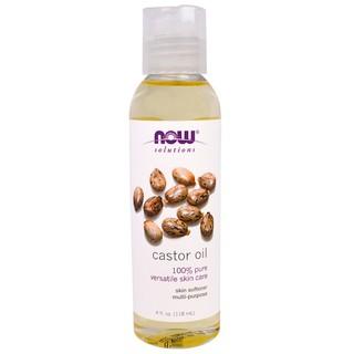 NOWfoods, Soluotions (USA) – Dầu thầu dầu dưỡng ẩm, làm mềm da, tóc tinh khiết 100%- Castor Oil 118ml