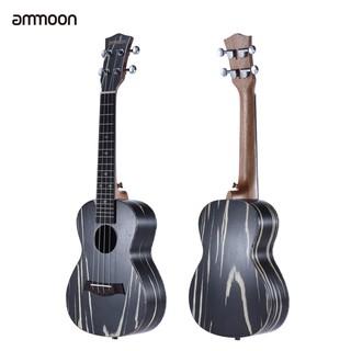 ammoon 24″ Wooden Acoustic Soprano Ukulele Ukelele Uke18 Frets 4 Strings Okoume Neck Rosewood Fretboard String Instrumen