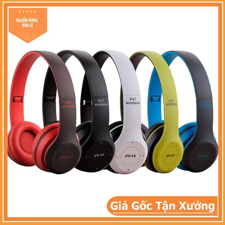 Tai Nghe Bluetooth P47- Hỗ Trợ Cắm Thẻ Nhớ Nghe Nhạc Chơi Game Trực Tiếp - Siêu Chất ( Cực Đẹp )