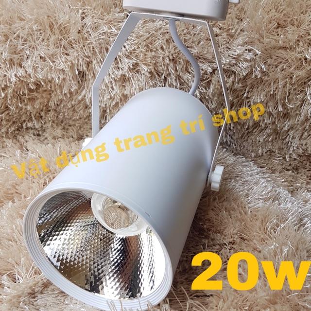 Combo 2 đèn led rọi 20w vỏ trắng sáng trắng