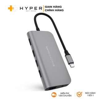 Cổng chuyển HyperDrive Power 9-in-1 USB-C Hub cho iPhone Pro, Macbook, Ultrabook, USB-C Devices - HD30F