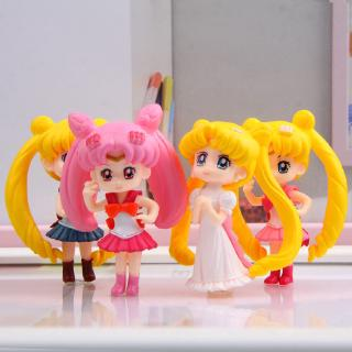 #ReadyStock# 4Pcs/set Sailor Moon Girl Doll Gift For Kid Toys
