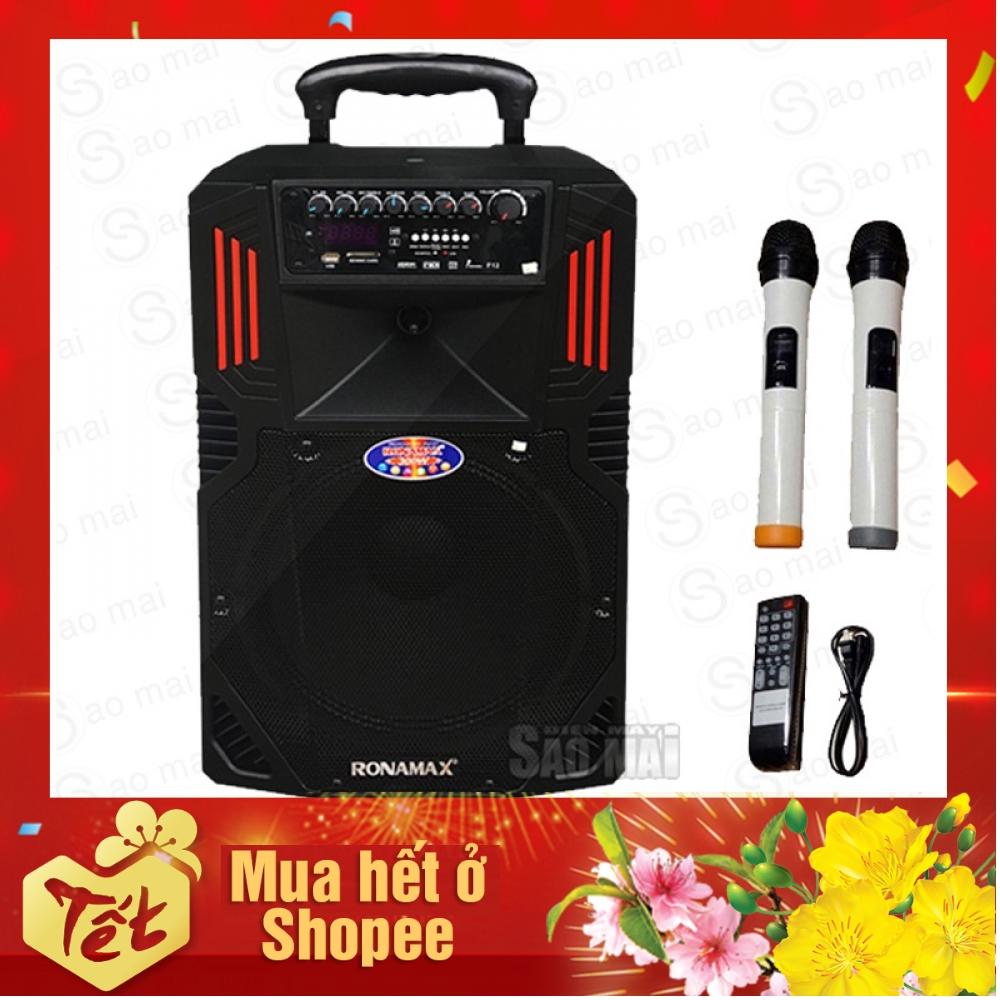 [ TOP Bán chạy ] Loa kéo Bluetooth,loa karaoke di động RONAMAX F12 300W