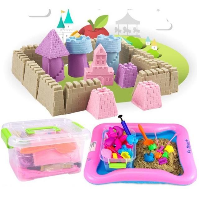 [FreeShip từ 150K] Bộ đồ chơi tạo hình khối bằng cát động lực