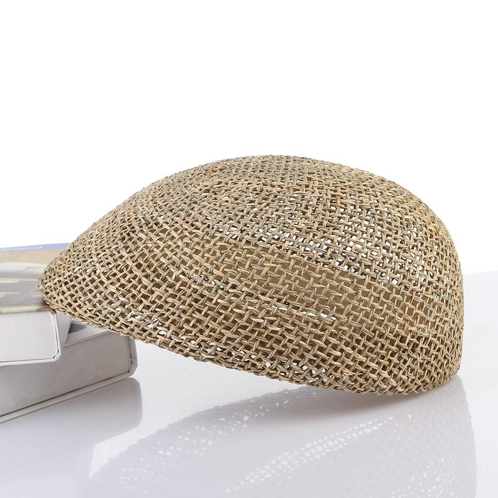 Mũ nồi nam bằng cỏ biển kiểu dáng cổ điển độc đáo