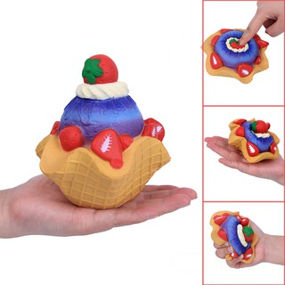 Strawberry Cake Scented Super Slow Rising Kids Toy Stress Reliever Toy 13cm