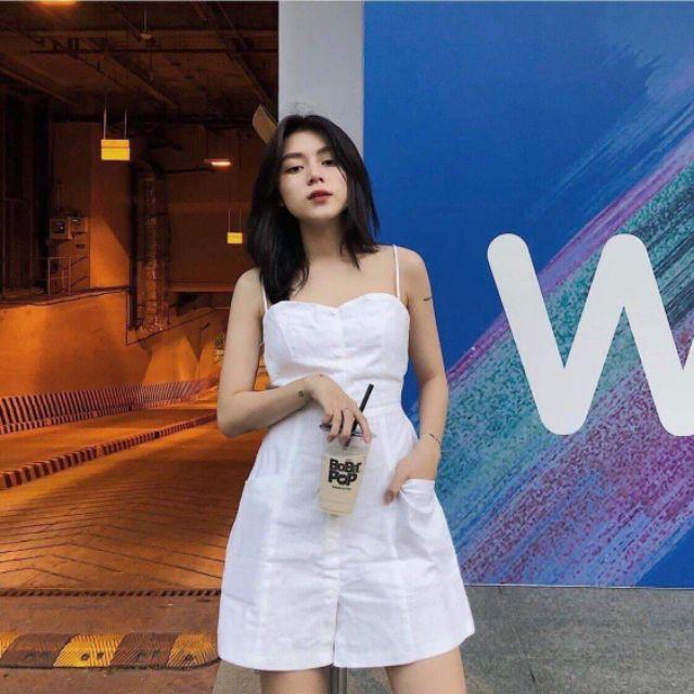 Đầm kaki trắng