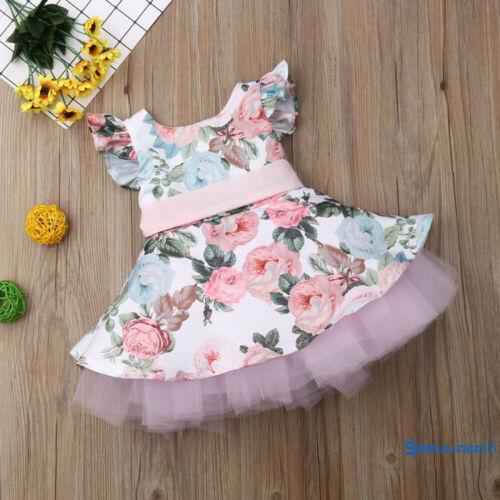 Đầm xòe không tay họa tiết hoa dễ thương cho bé gái