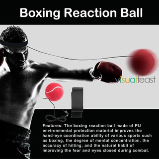 [Ready Stock COD] Boxing Punching Reaction Training Speed Ball Tennis Sports Decompression