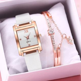 Đồng hồ đeo tay nữ mặt vuông đính đá thời trang