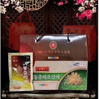 Đông Trùng Hạ Thảo Sâm núi BIO Hàn Quốc hộp 30 gói x 70ml
